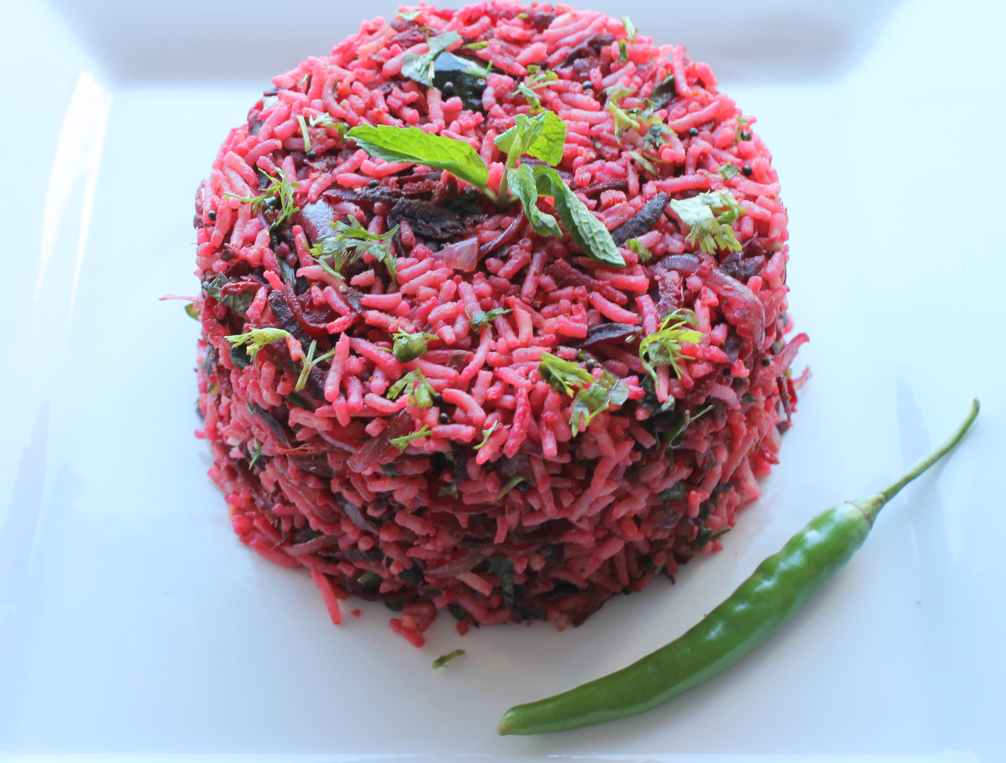 Beetroot rice pillaf